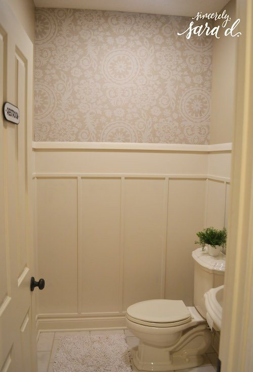 Bathroom Wall Paneling Sincerely Sara D Home Decor Diy Projects
