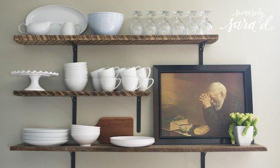 Temporary shelves for renters