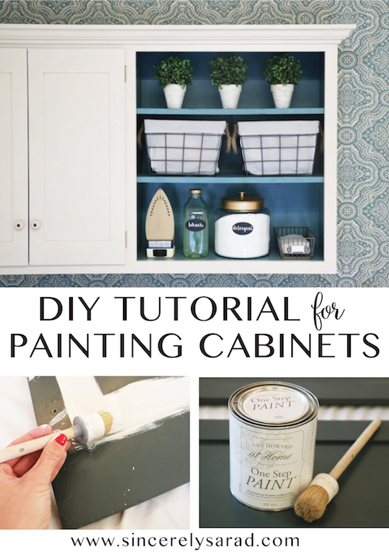 Painting Cabinets with One Step Chalk-Type Paint