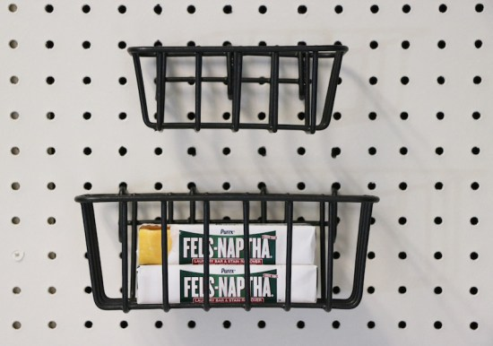 Peg Board Storage