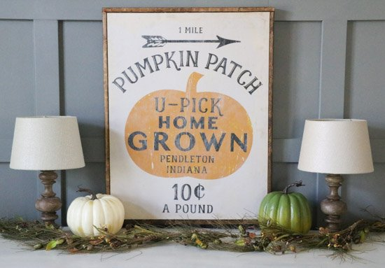 DIY Pumpkin Patch Sign (1 of 1)