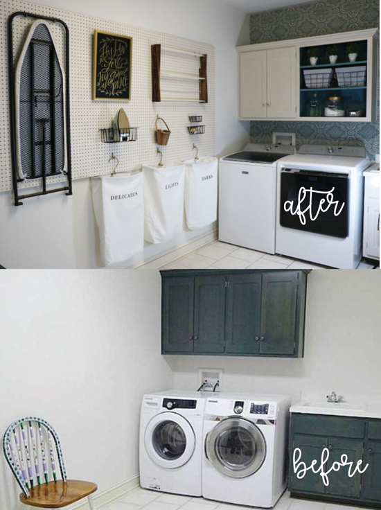 Laundry Room Before & After