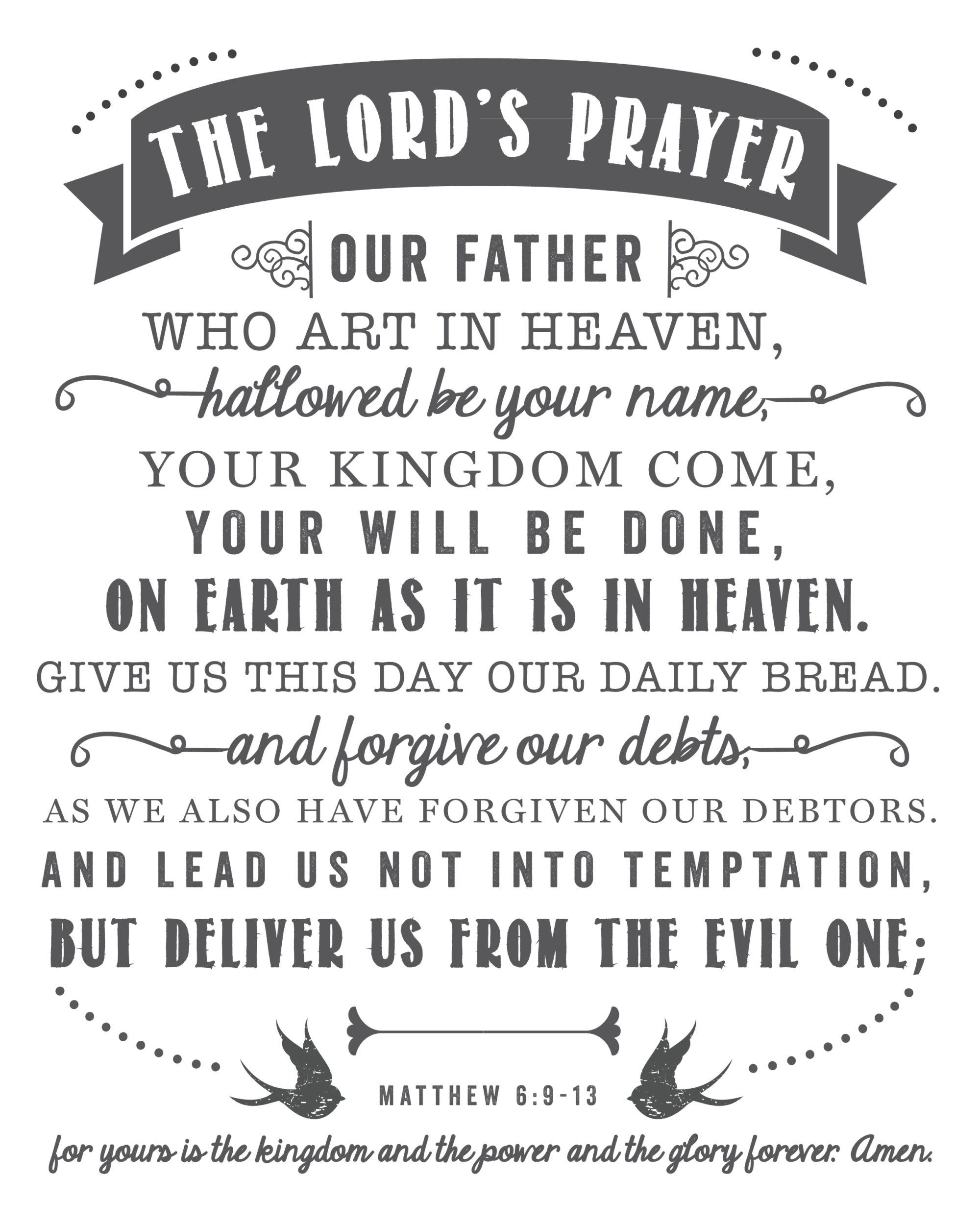 The Lord S Prayer