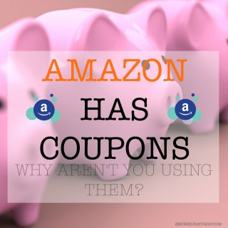 Amazon has coupons! Why aren't you using them?