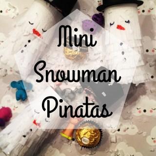 Mini snowman Pinata