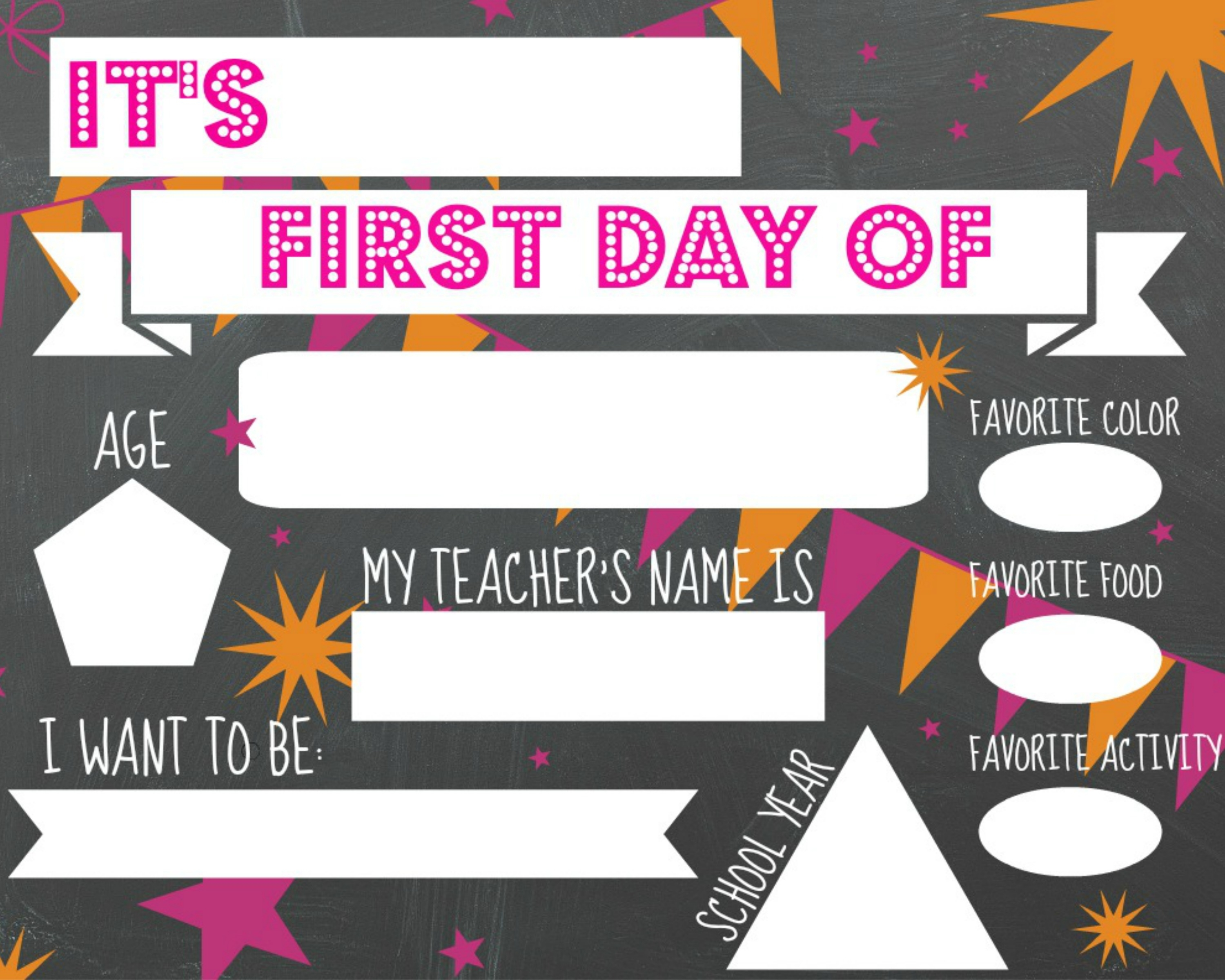 photo relating to First Day of School Sign Printable identified as No cost PRINTABLE 1st Working day OF College or university Indications Sincerely Saay