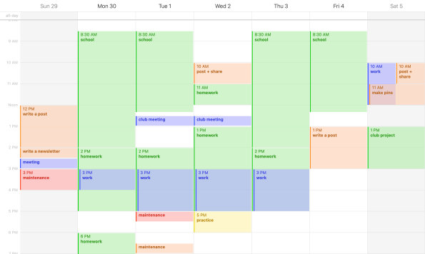 Use a digital calendar to timeblock