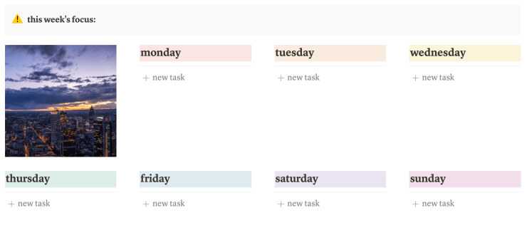 Use Notion to make daily to-do lists!