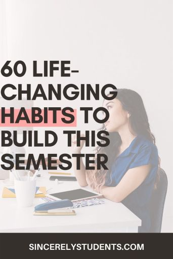 60 best habits to build as a student