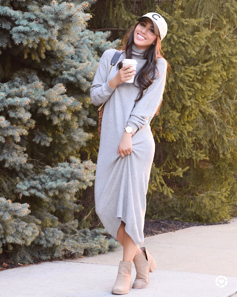 nordstrom fall sale style blogger ankle boots booties brittany seiden sincerely styled sweater dress