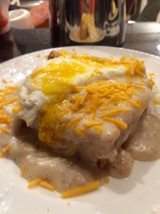 Beer battered biscuits & gravy (HEAVEN ON EARTH!)
