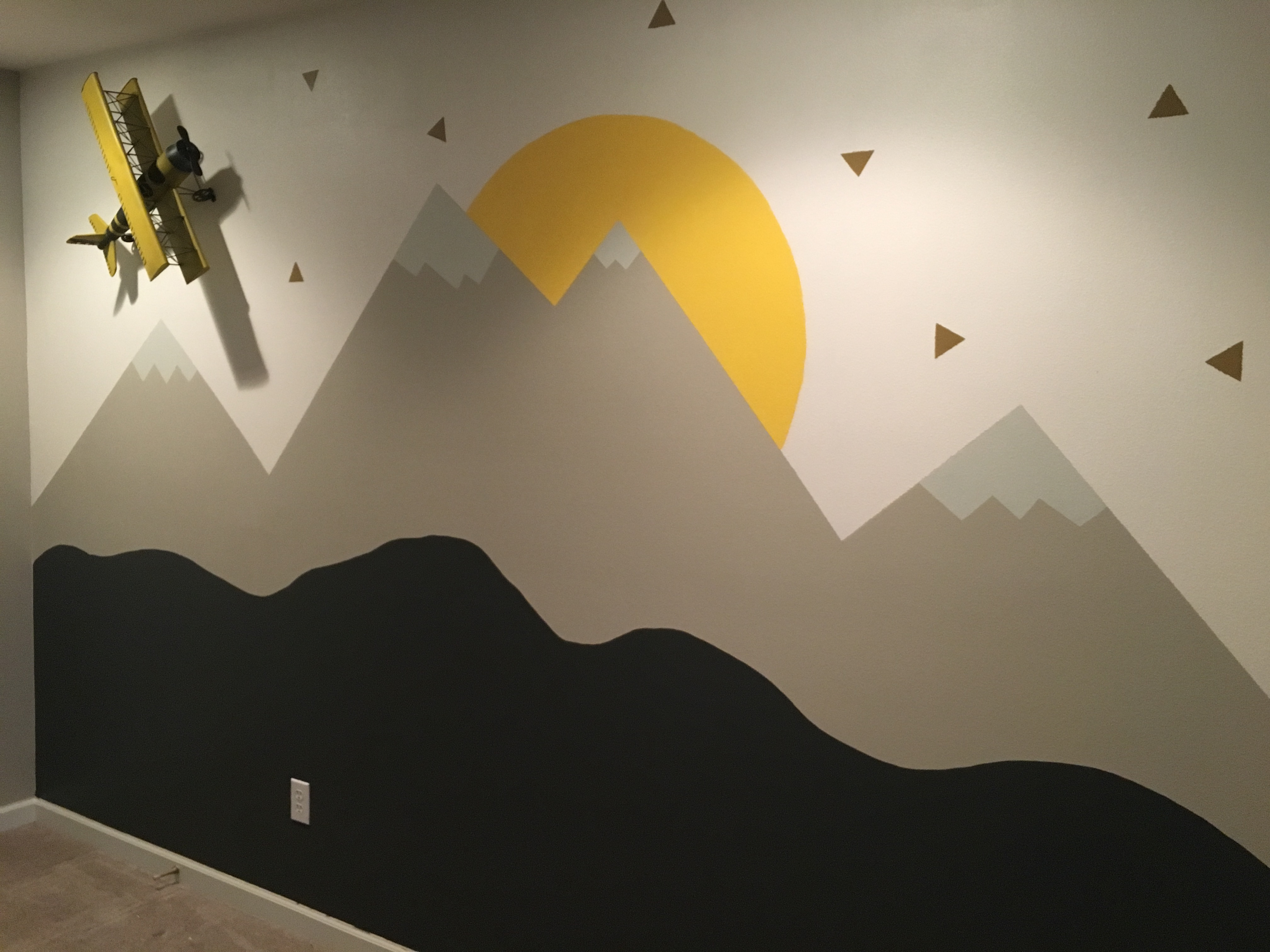 Mountain Wall Mural stepstep mountain wall mural | sincerely the smith's