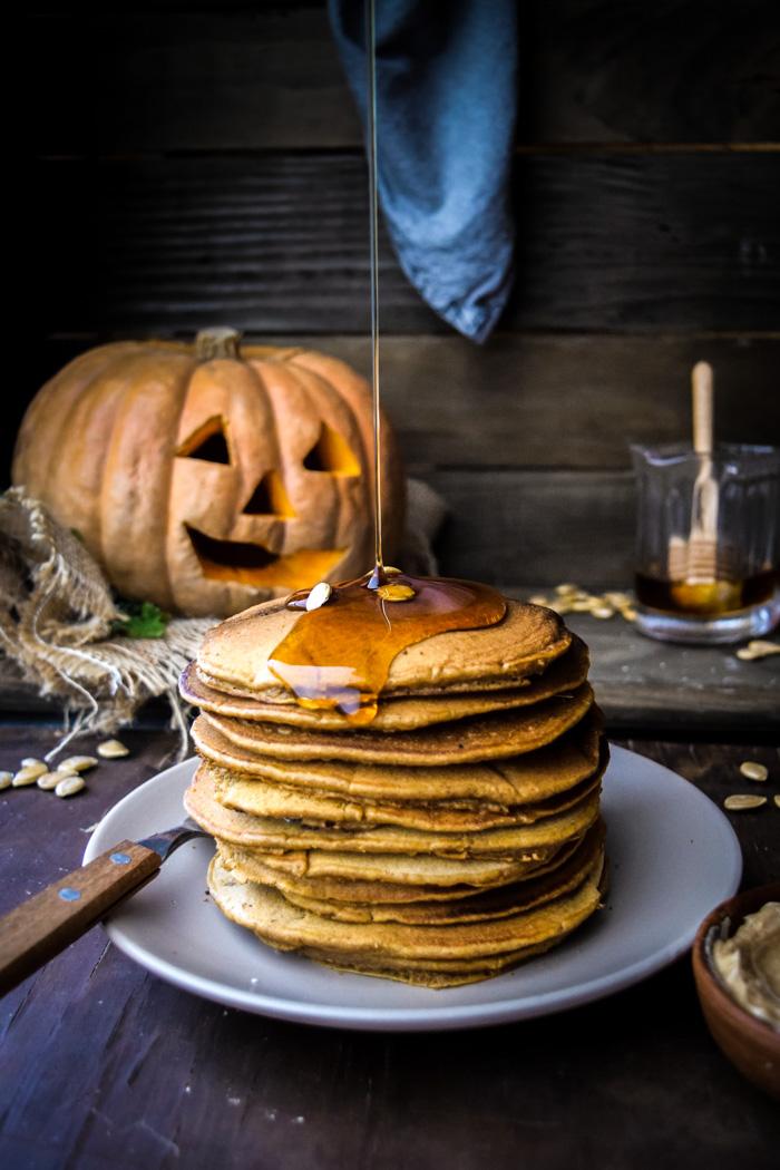 pumpkin pancakes with pancake mix