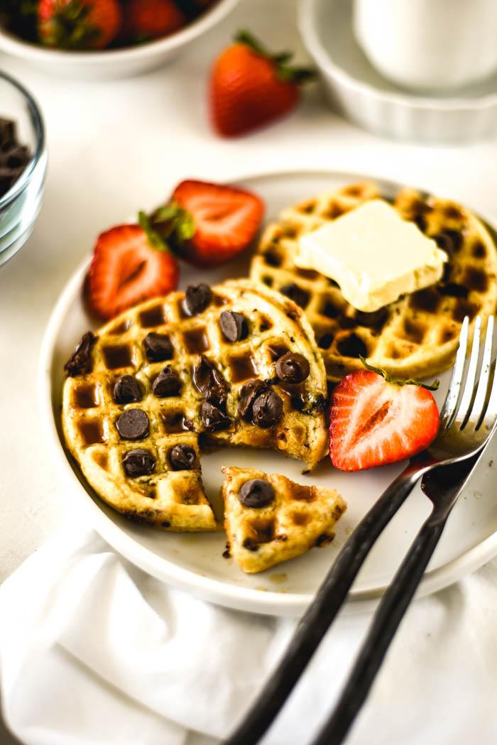 vegan coconut cream waffles easy