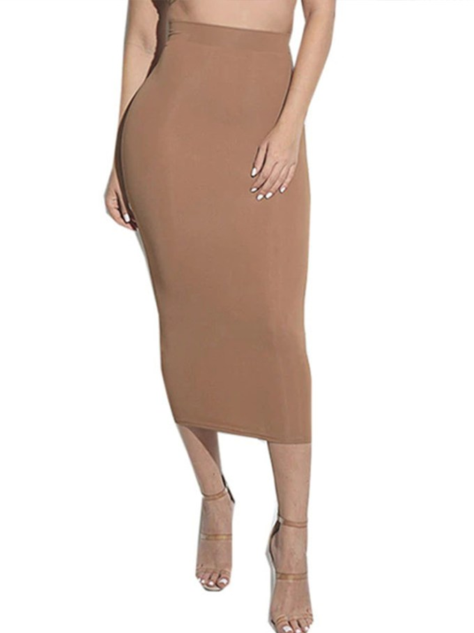 Heather Bodycon Fitted Midi Skirt 4