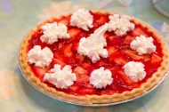 Strawberry Jello Pie Homemade with Whipped Cream