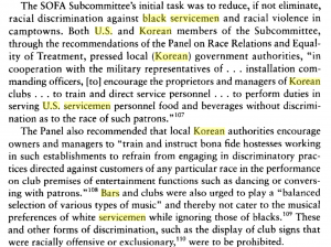 Korea discriminates against black servicemen
