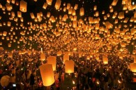 Festival of Lanterns in Thailand.