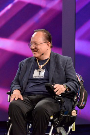 ANAHEIM, CALIFORNIA - JANUARY 16: Noel Lee speaks onstage at The 2020 NAMM Show Opening Day on January 16, 2020 in Anaheim, California. (Photo by Jerod Harris/Getty Images for NAMM)
