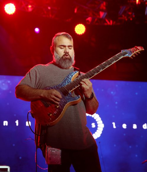 ANAHEIM, CALIFORNIA - JANUARY 16: Javier Reyes of Animals as Leaders performs at The 2020 NAMM Show Opening Day on January 16, 2020 in Anaheim, California. (Photo by Jesse Grant/Getty Images for NAMM)