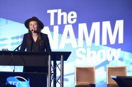 ANAHEIM, CALIFORNIA - JANUARY 17: Stephanie Lamond performs onstage at The 2020 NAMM Show on January 17, 2020 in Anaheim, California. (Photo by Jerod Harris/Getty Images for NAMM)