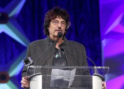 ANAHEIM, CALIFORNIA - JANUARY 17: Carmine Appice speaks onstage at The 2020 NAMM Show on January 17, 2020 in Anaheim, California. (Photo by Jesse Grant/Getty Images for NAMM)