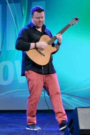 ANAHEIM, CALIFORNIA - JANUARY 18: Jeff Gunn performs onstage at The 2020 NAMM Show on January 18, 2020 in Anaheim, California. (Photo by Jerod Harris/Getty Images for NAMM)