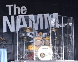 ANAHEIM, CALIFORNIA - JANUARY 18: Drummers perform at Hit Like a Girl at The 2020 NAMM Show on January 18, 2020 in Anaheim, California. (Photo by Jerod Harris/Getty Images for NAMM)