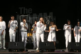 ANAHEIM, CALIFORNIA - JANUARY 18: A cappella singers perform onstage at The 2020 NAMM Show on January 18, 2020 in Anaheim, California. (Photo by Jesse Grant/Getty Images for NAMM)