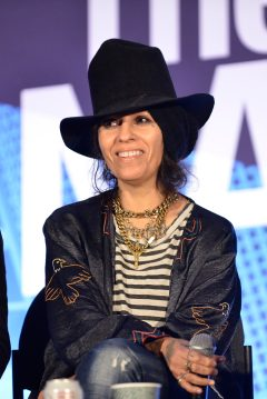 ANAHEIM, CALIFORNIA - JANUARY 18: Linda Perry speaks onstage at The 2020 NAMM Show on January 18, 2020 in Anaheim, California. (Photo by Jerod Harris/Getty Images for NAMM)