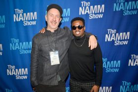 ANAHEIM, CALIFORNIA - JANUARY 18: Sam Hollander and Troy Noka attend The 2020 NAMM Show on January 18, 2020 in Anaheim, California. (Photo by Jerod Harris/Getty Images for NAMM)