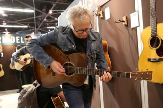 ANAHEIM, CALIFORNIA - JANUARY 18: A guest attends The 2020 NAMM Show on January 18, 2020 in Anaheim, California. (Photo by Jesse Grant/Getty Images for NAMM)