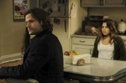 "Supernatural --""Somewhere Between Heaven and Hell""-- SN1215b_0139.jpg -- Pictured (L-R): Jared Padalecki as Sam and Angelique Rivera as Gwen Hernandez -- Photo: Bettina Strauss/The CW -- © 2017 The CW Network, LLC. All Rights Reserved"