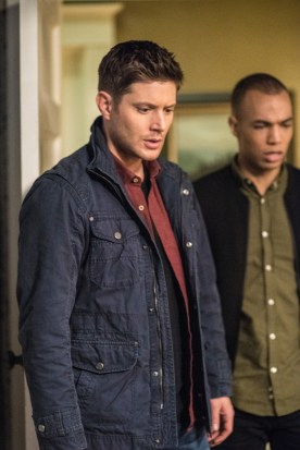 """Supernatural --""""Twigs & Twine & Tasha Banes"""" -- SN1220b_0274.jpg -- Pictured (L-R): Jensen Ackles as Dean and Kendrick Samson as Max Banes -- Photo: Dean Buscher/The CW -- © 2017 The CW Network, LLC. All Rights Reserved"""