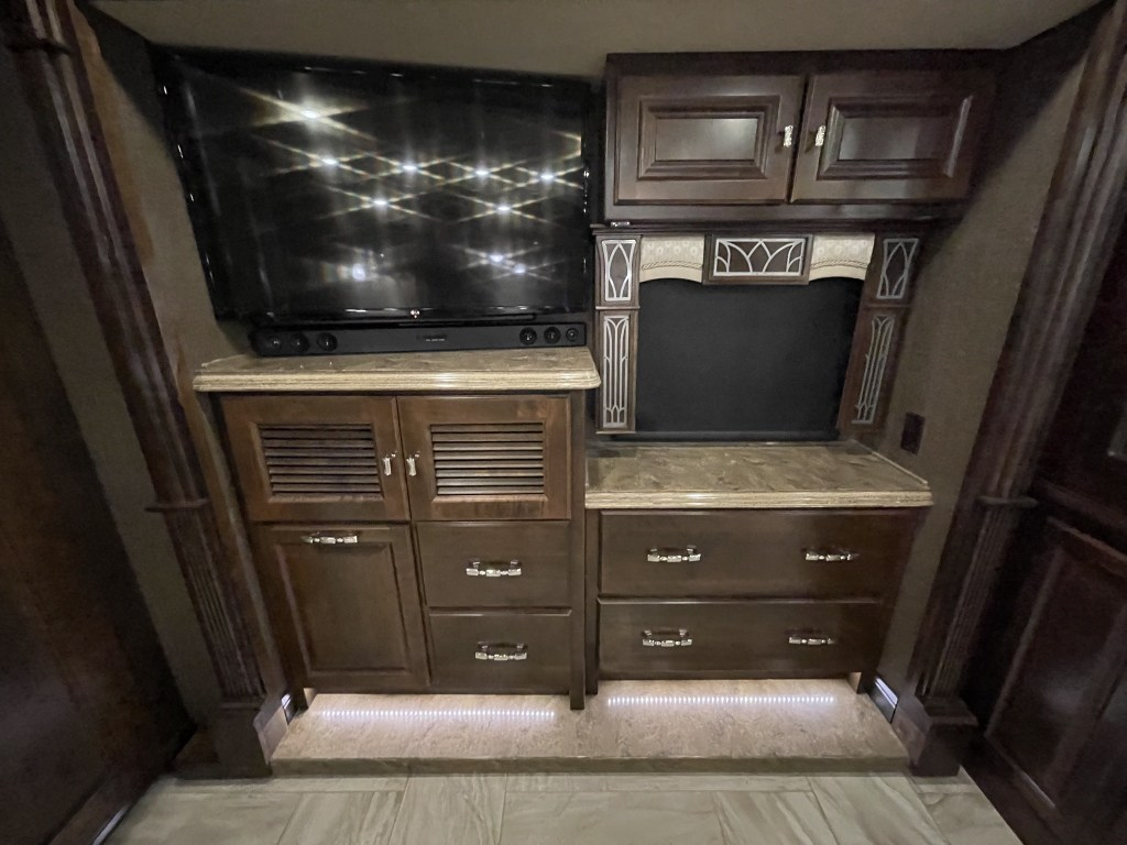 Bedroom TV and cabinets
