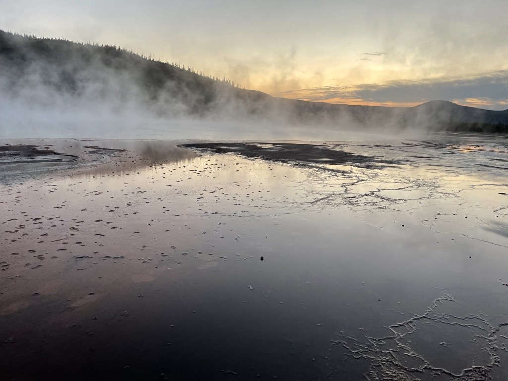 Runoff from Grand Prismatic Spring