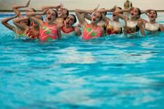 natacion sincronizada exhibicion Navidad