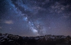 The Milky Way stretching through the sky