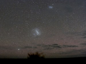 The two Magellanic Clouds in the southern sky