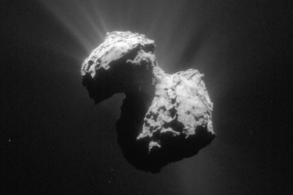 The comet 67P, which the Philae lander visited in 2014