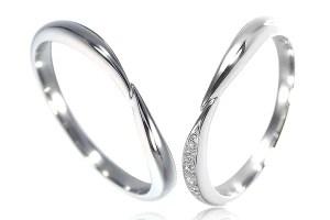 絆を表現した結婚指輪