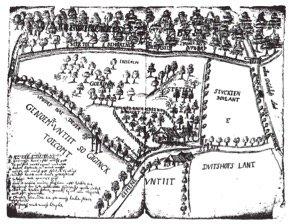 Proceskaart uit 1650