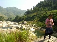 Terrazas de arroz de Sapa - Niña Hmong