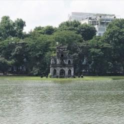 Vietnam - El barrio antiguo de Hanoi - Torre de la Tortuga