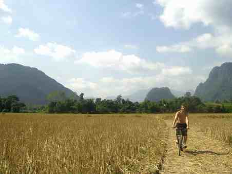 Vang Vieng by bike scaled - What to do in Vang Vieng: the best 3 things
