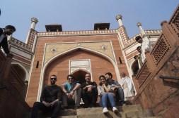 Visitando la Tumba Humayun con los amigos