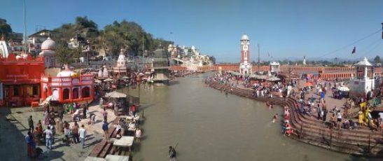 Haridwar - Templo Har Ki Pauri Panorámica