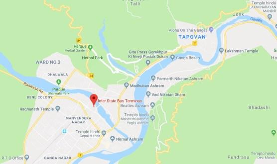 Mapa Rishikesh 500x297 - Trip to Rishikesh, the city of the Beatles and yoga