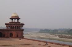 Taj Mahal - Río Yamuna