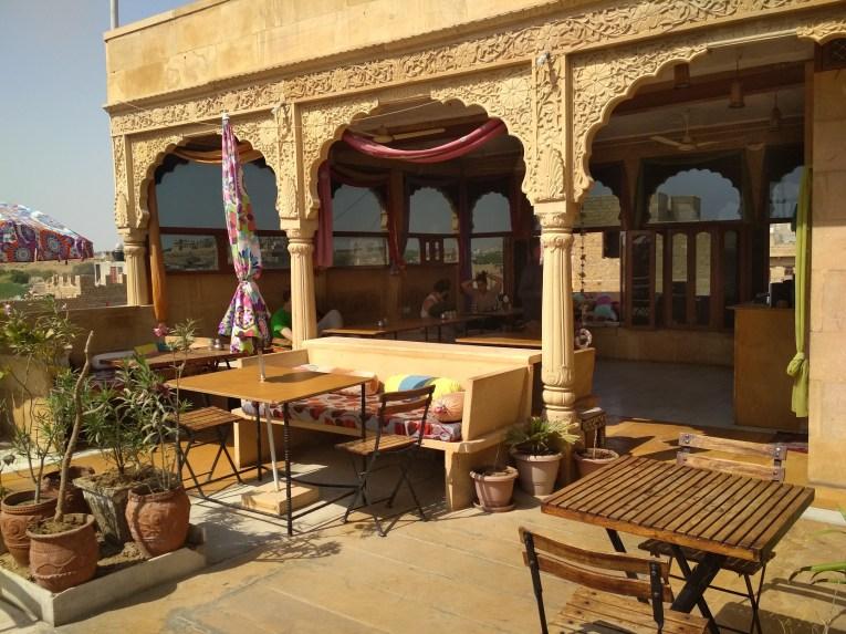 Jaisalmer Hotel Pol Haveli Rooftop - Jaisalmer y el desierto del Thar, un safari de dos días inolvidable